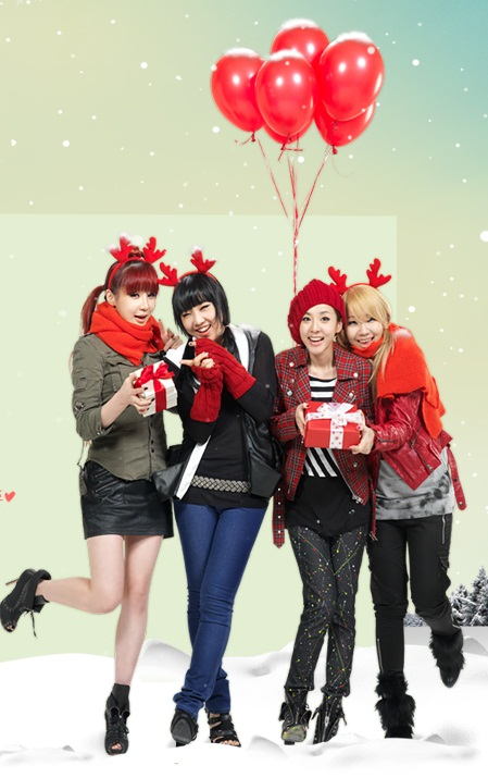 Wallpapers 2ne1s Christmas 2010 With December